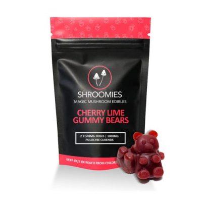 Shroomies Cherry Lime Gummy Bears 1000mg