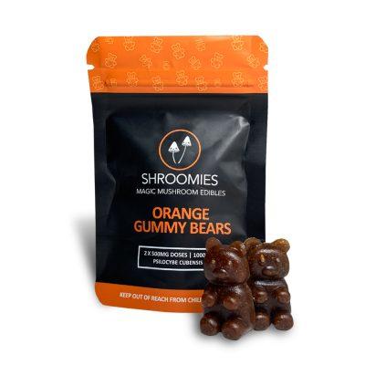 Shroomies Orange Gummy Bears 1000mg